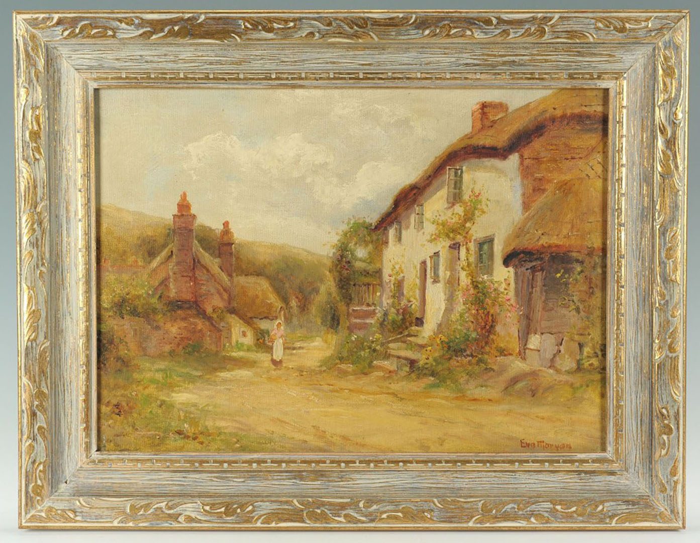 Lot 2872251: 19th Cent. Oil on Canvas by Eva Maryan