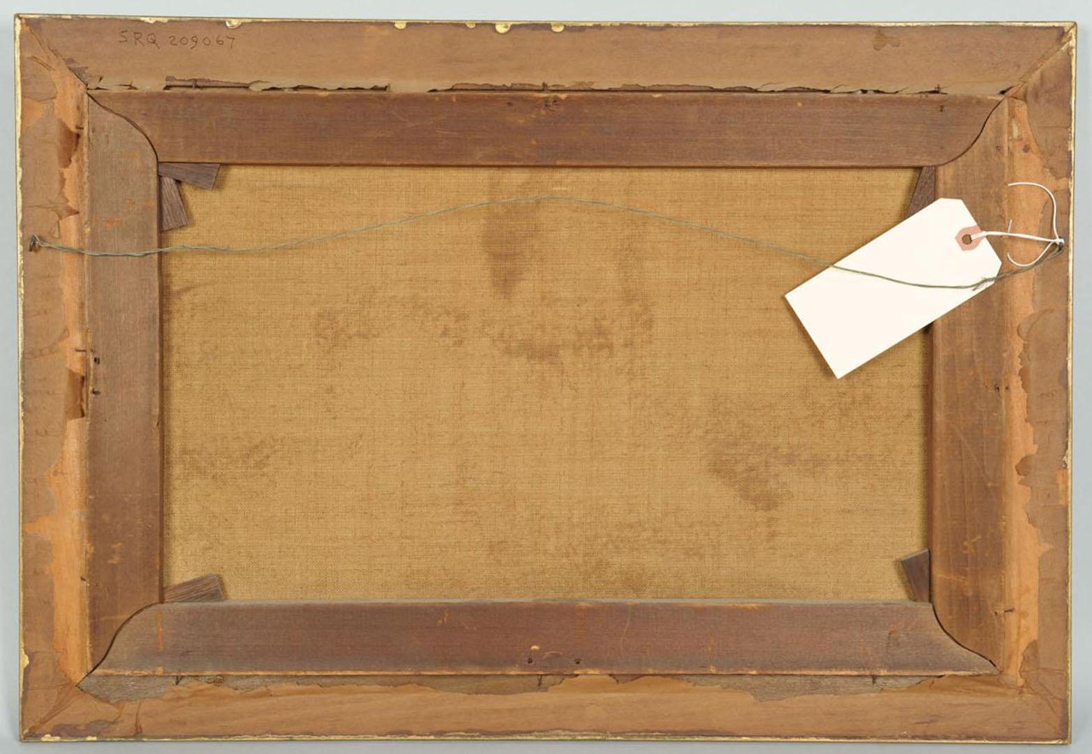Lot 2872252: Daniel C. Grose oil on canvas, Indian Bazaar