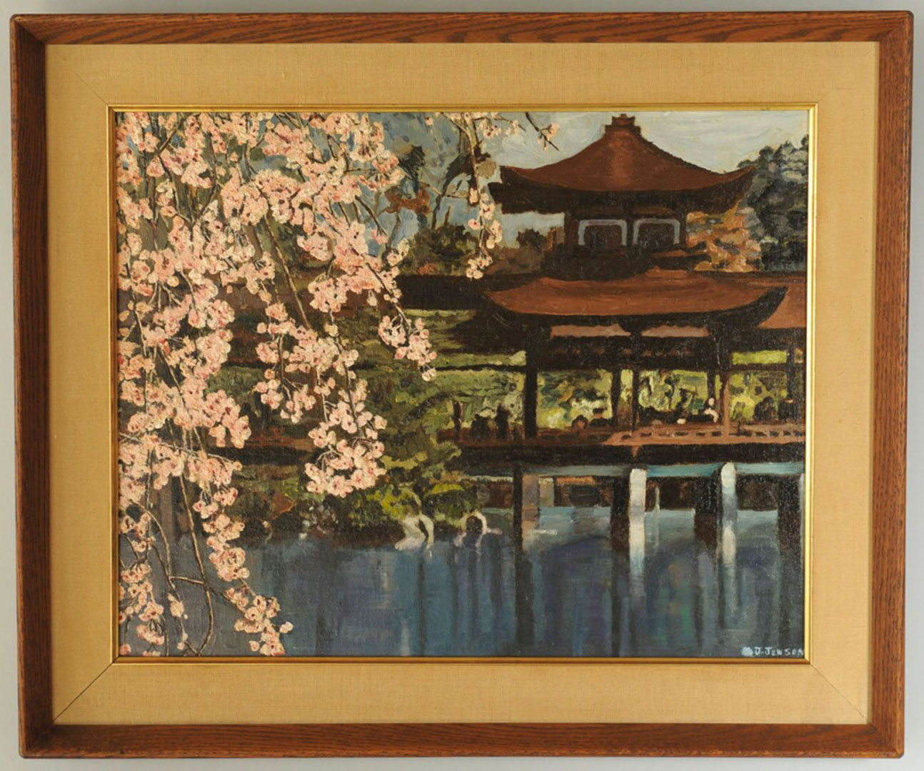 Lot 2872258: Japanese Landscape Oil on Board
