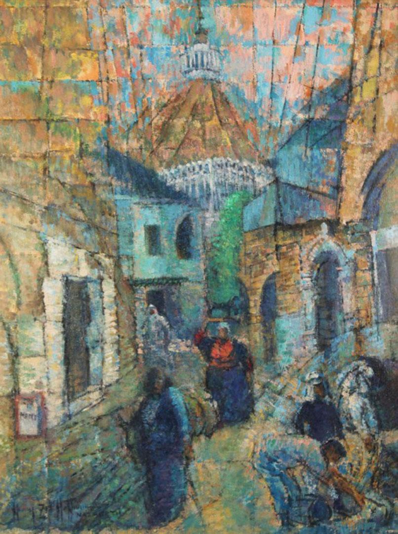 "Lot 2872261: Pastel titled ""Nazareth"", Harry Zee Hoffman"