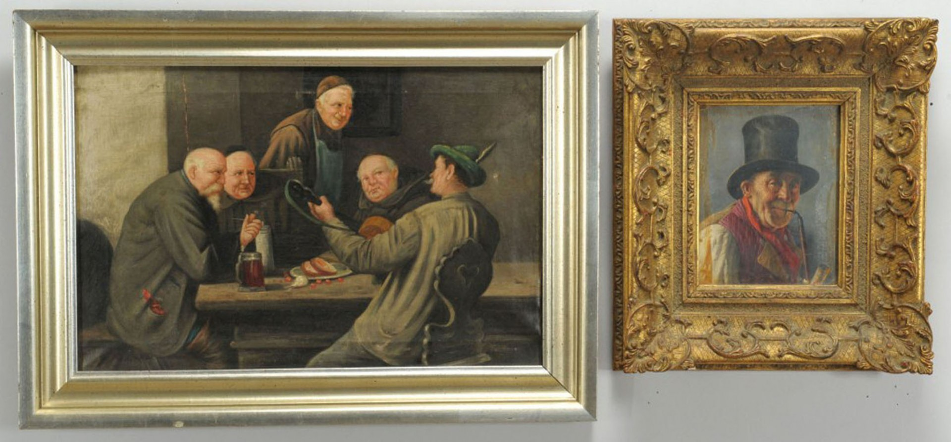 Lot 2872263: Grouping of two European paintings