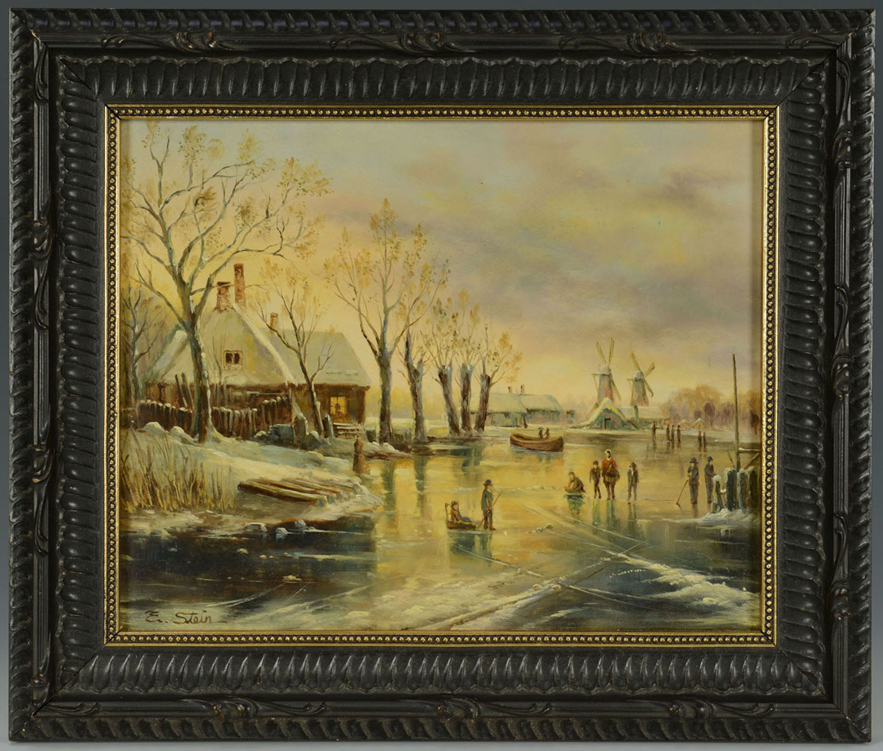 Lot 2872264: Dutch School Winter Landscape, signed E. Stein