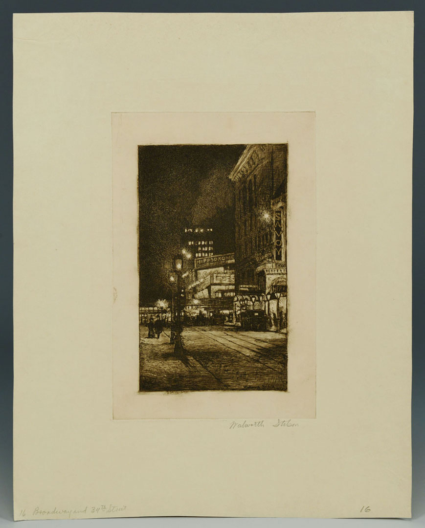 Lot 2872268: 6 Walworth Stilson Etchings of New York