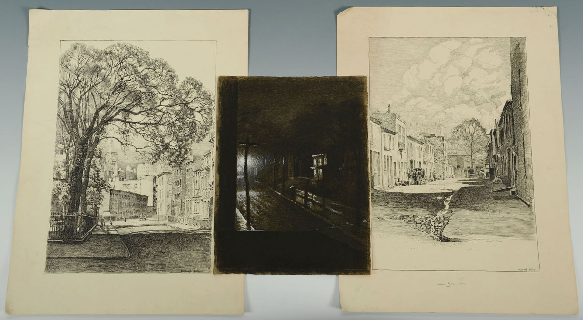 Lot 2872269: Walworth Stilson Works on Paper of Street Views