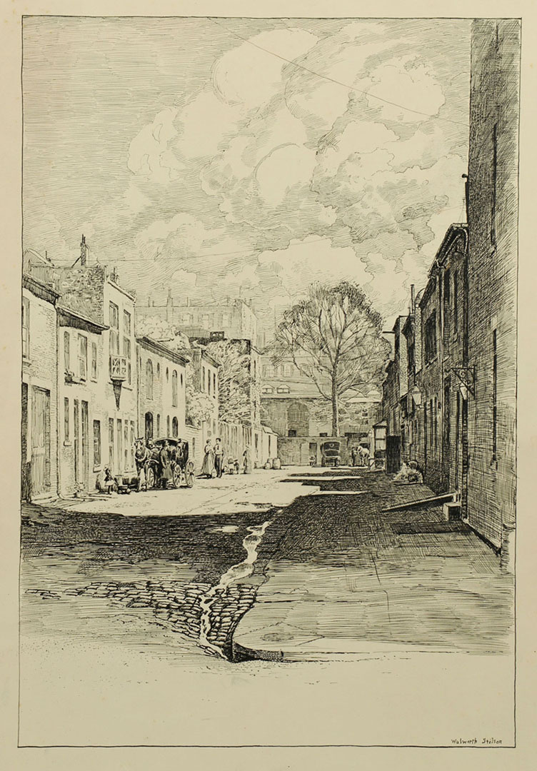Lot 2872269: Walworth Stilson Works on Paper of Street Views