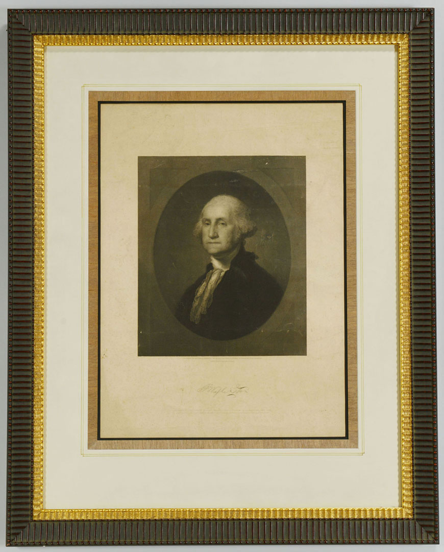 Lot 2872273: 2 19th c. Prints incl. Stuart's Washington