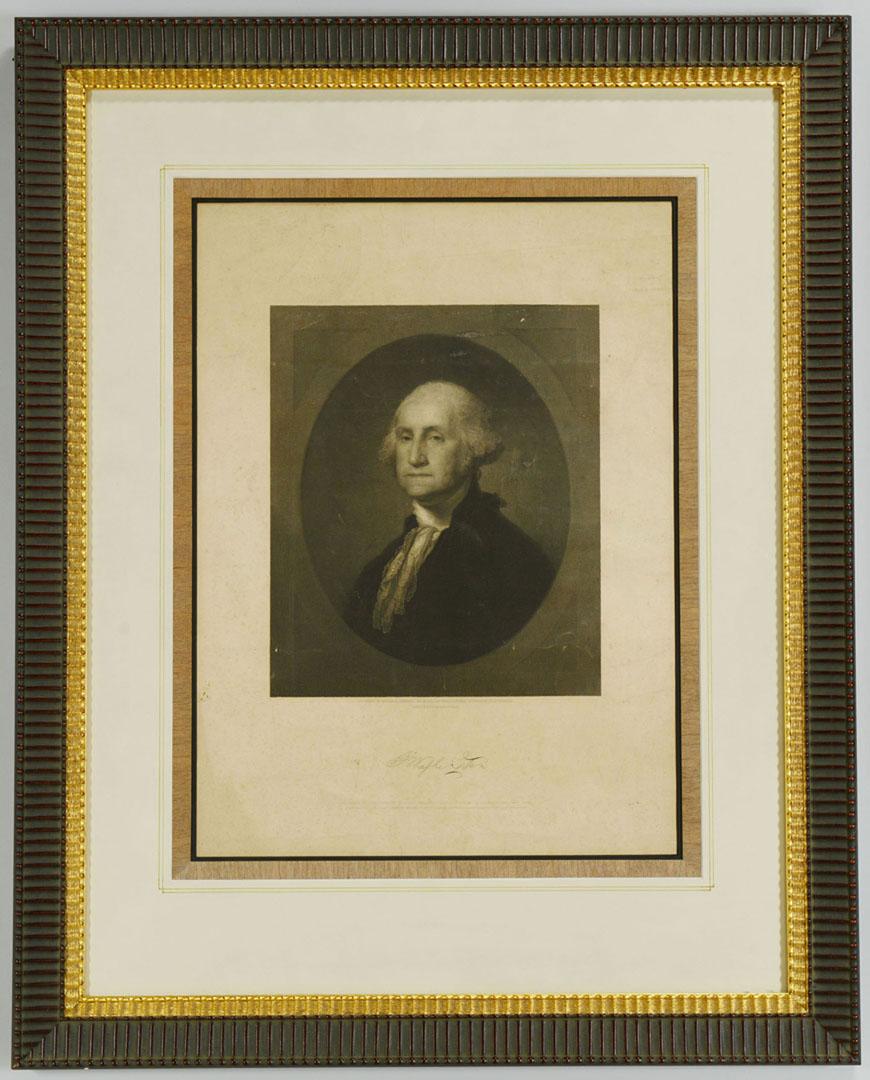Lot 2872273: 2 19th c. Prints incl. Stuart's Washington