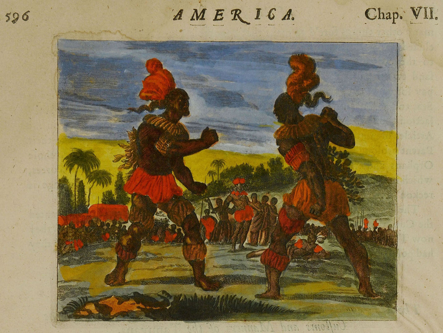 Lot 2872274: 18th C. Hand Colored English Indian Engraving