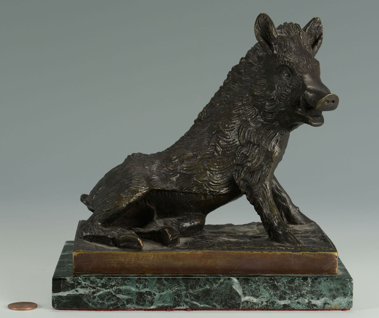 Lot 2872275: After V. Chemin Bronze Sculpture of Boar