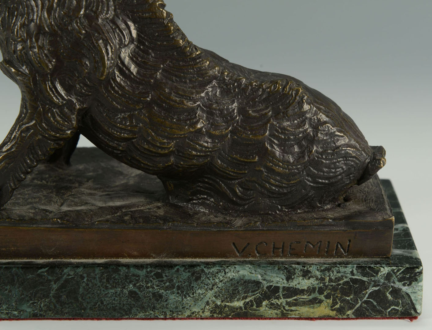 Lot 2872275: After V. Chemin Bronze Sculpture of Boar