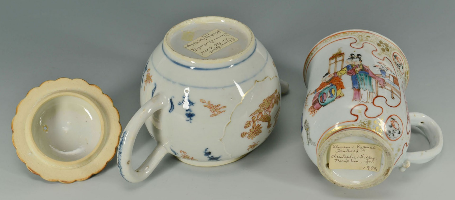 Lot 2872277: Grouping of 3 Chinese Export Porcelain Items