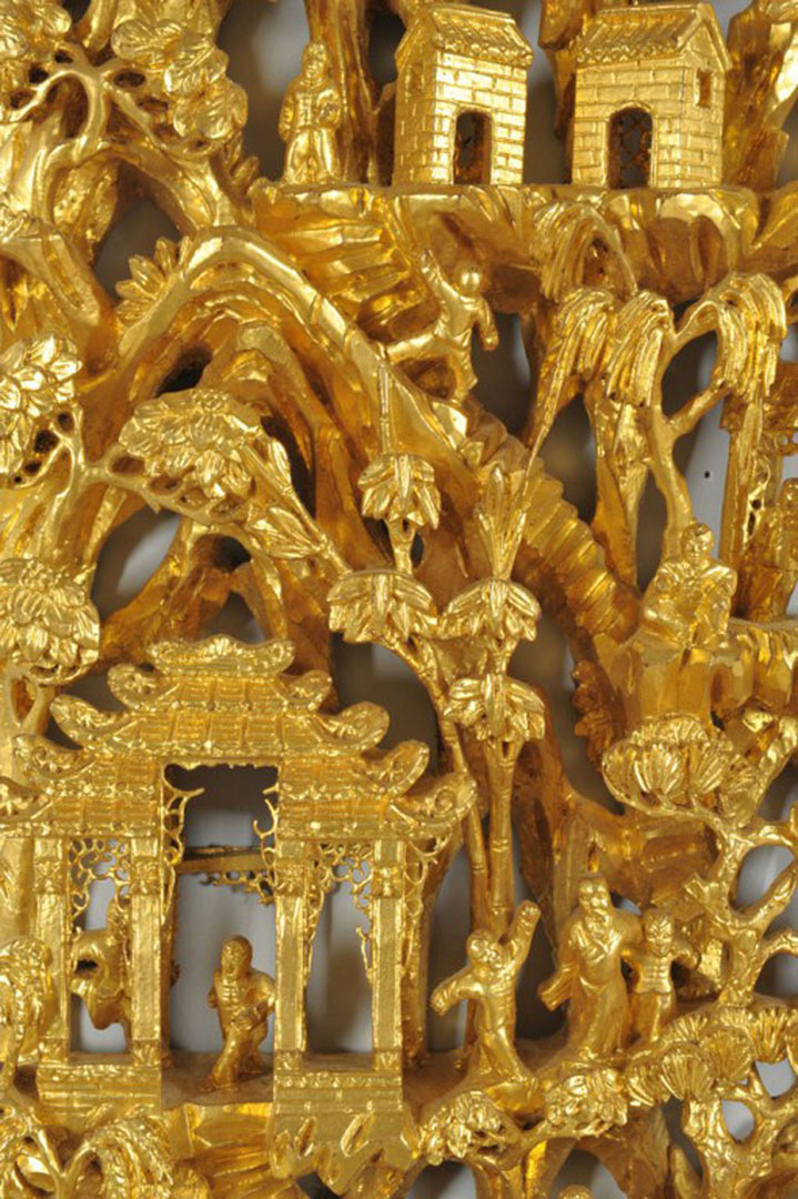 Lot 2872280: Chinese Carved Gilt-wood Frieze Panel
