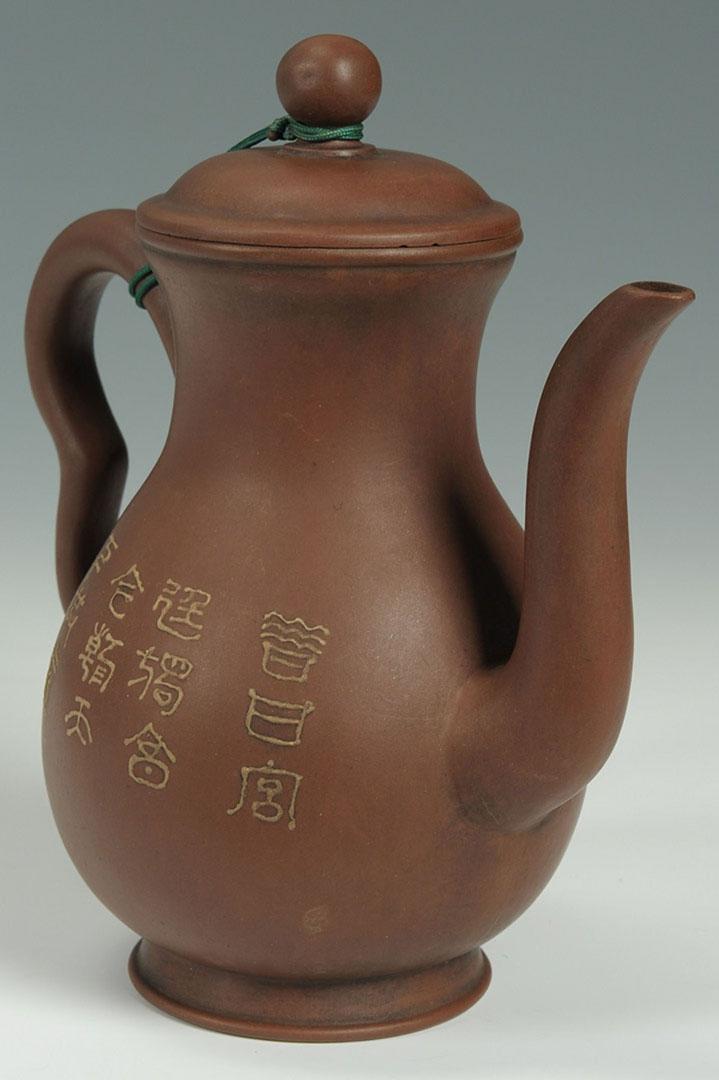 Lot 2872281: Chinese Yixing Pottery Tea Pot