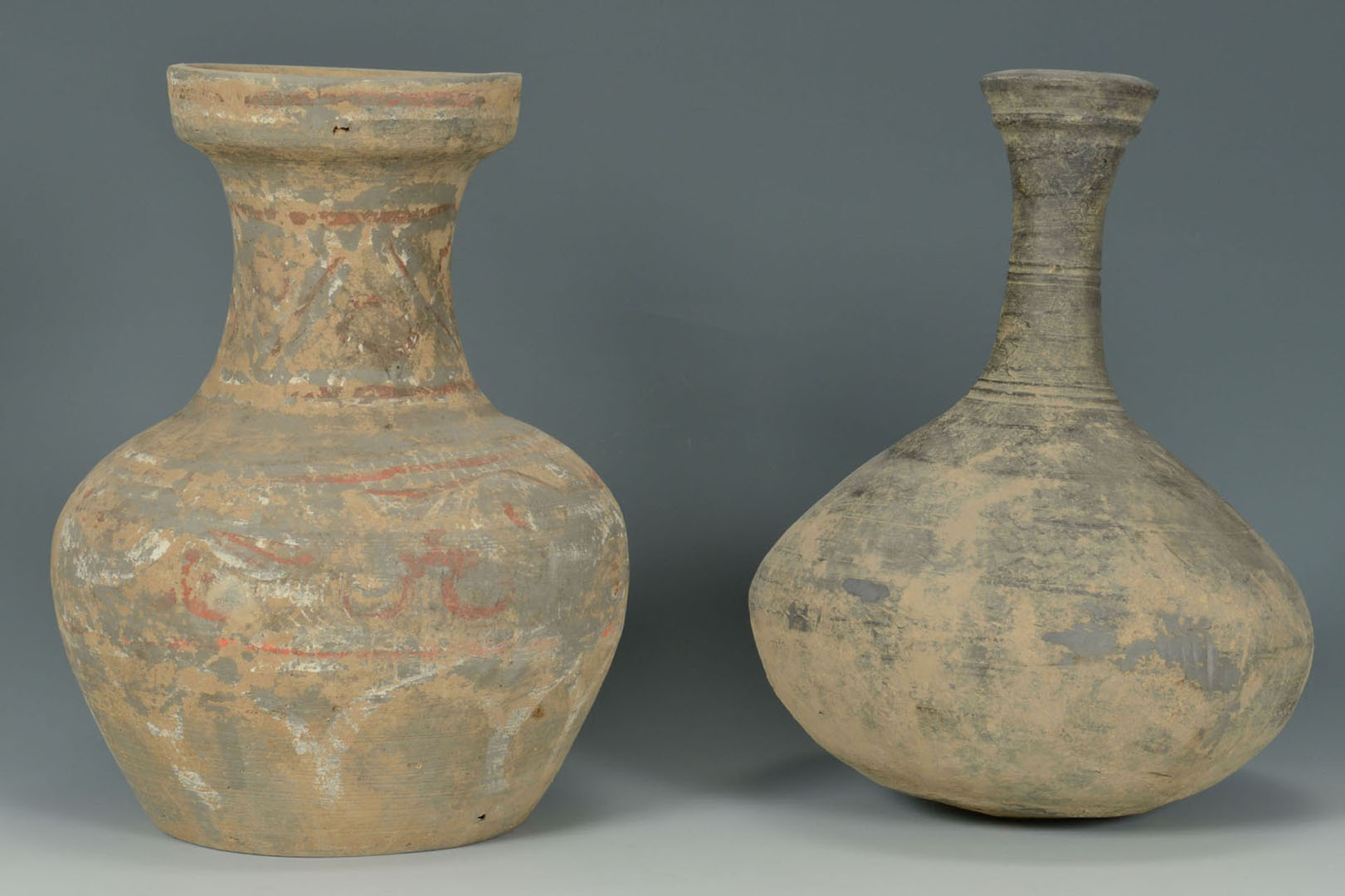 Lot 2872284: 2 Chinese Han Dynasty Pottery Wine Vessels