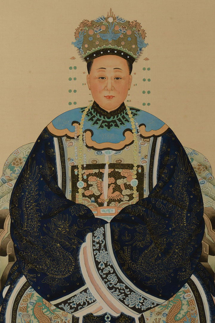 Lot 2872287: Chinese Ancestral Portrait on Silk