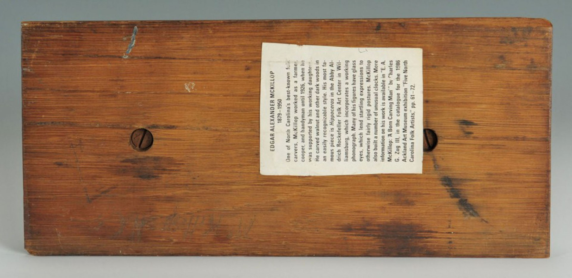 Lot 2872292: Edgar A. McKillop Signed Mantle Clock