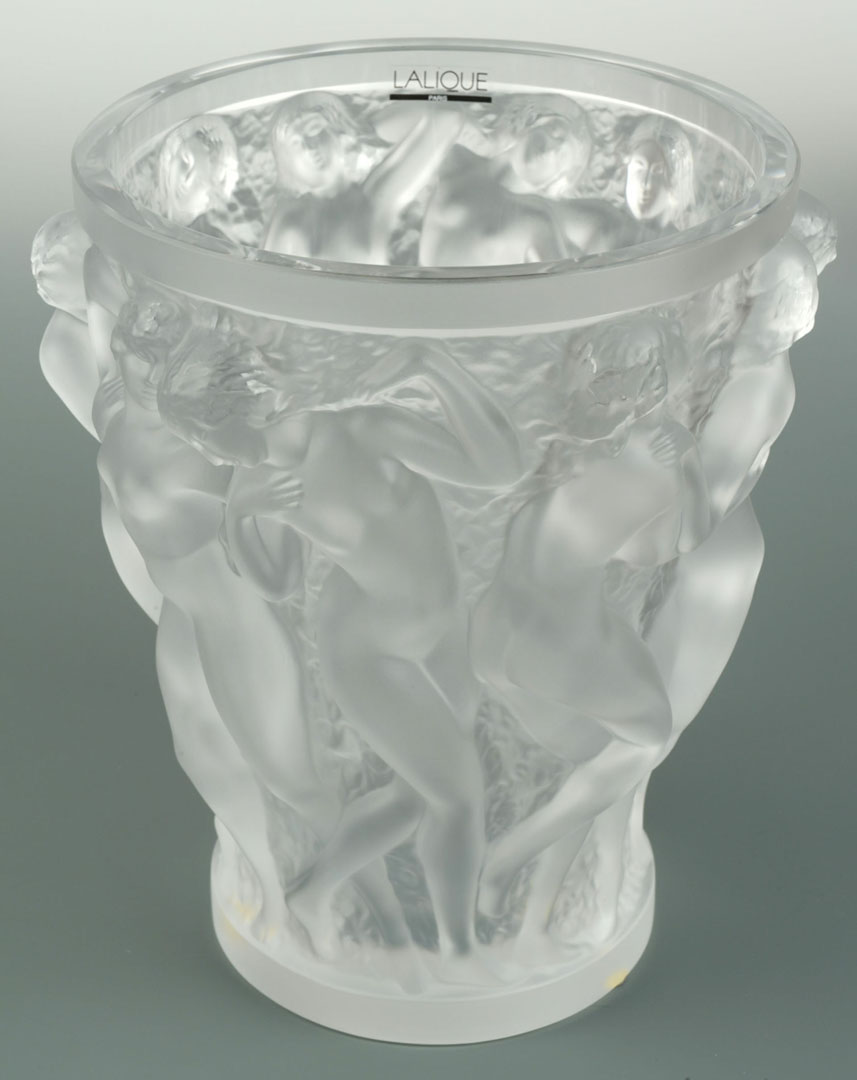 Lot 2872306: Lalique Bacchantes Art Glass Vase