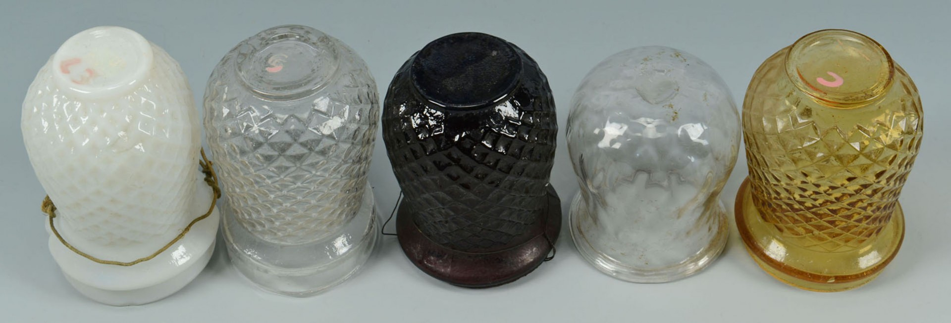 Lot 2872310: 20 Early Glass Christmas Candle Lights or Lanterns