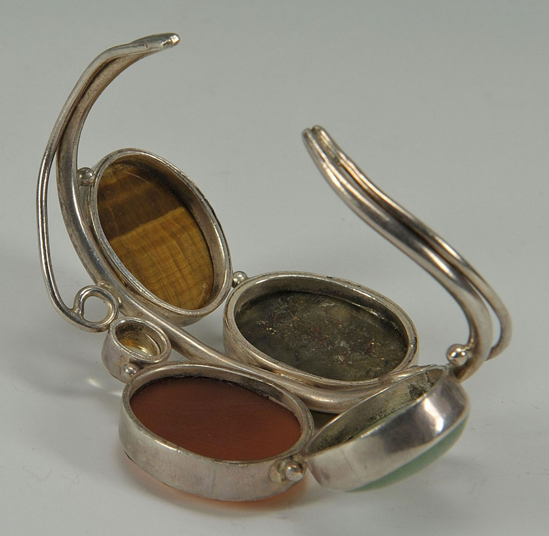 Lot 2872315: Assorted Silver and Hardstone Jewelry, 4 pcs