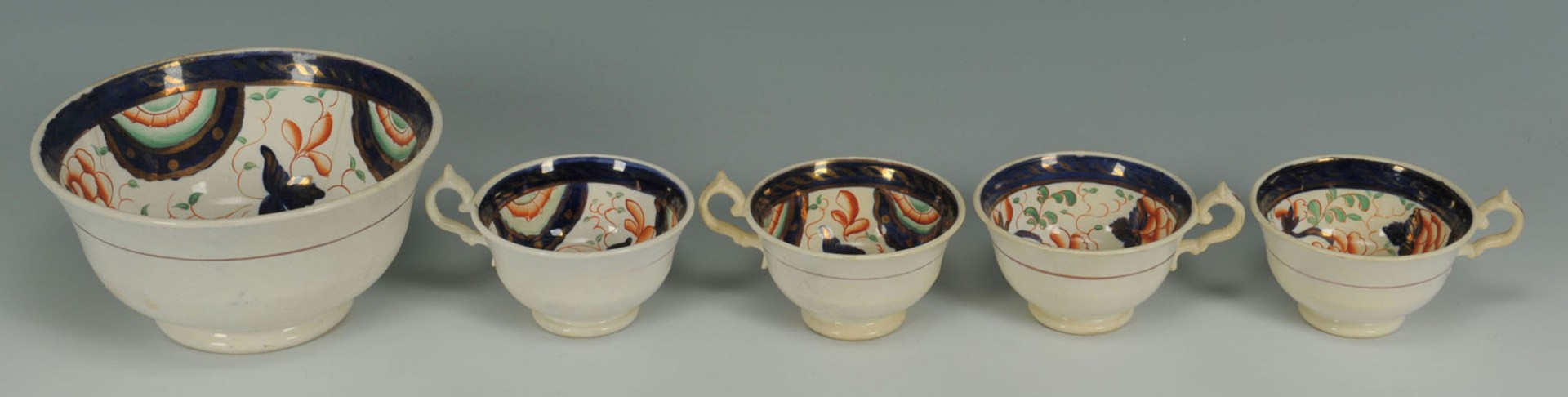 Lot 2872329: 15 pieces Gaudy Dutch pottery