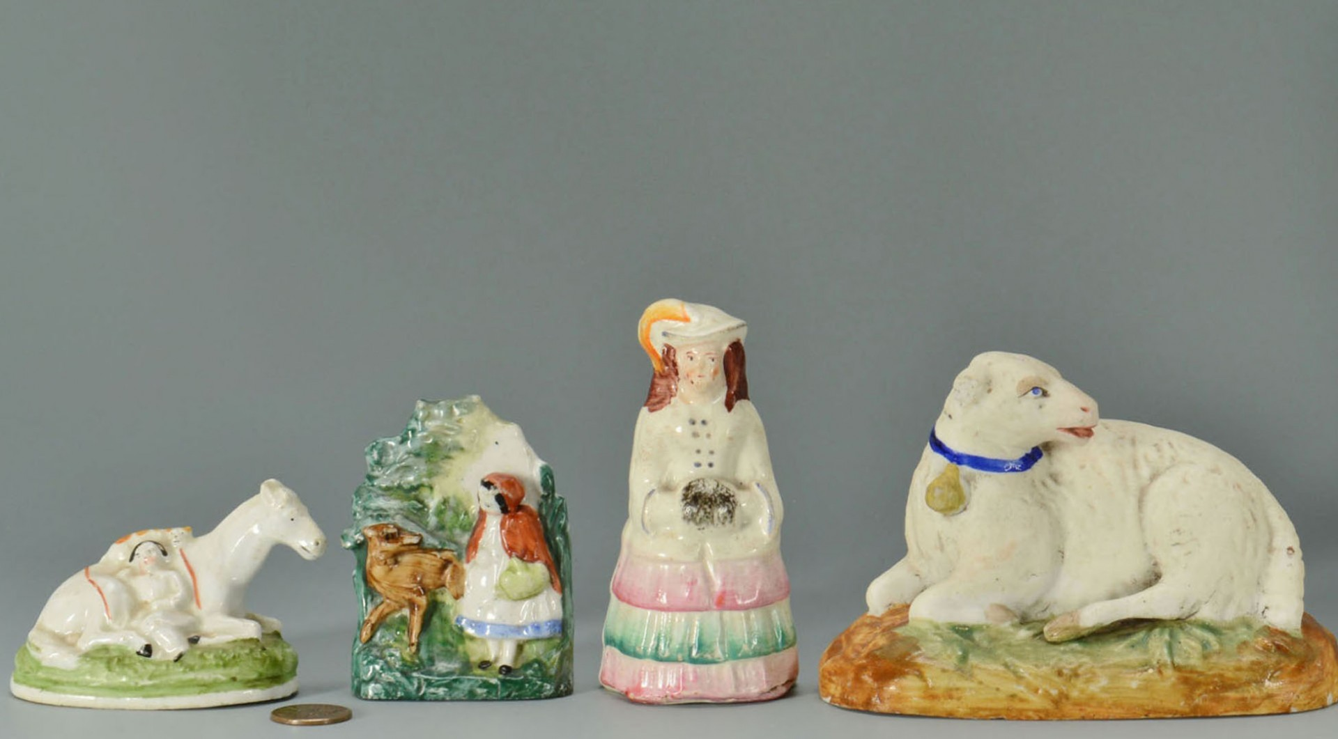 Lot 2872330: English Staffordshire Animals & Figurals, 6