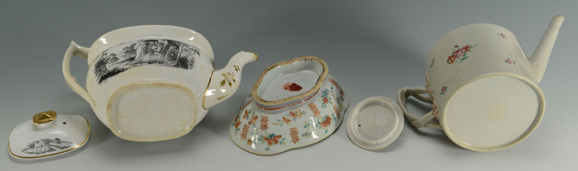 Lot 2872335: Grouping of Chinese and English porcelain