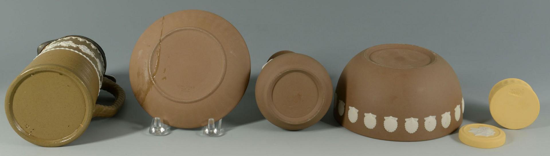 Lot 2872336: Lot of 19th c. English ceramics: lustre, creamware