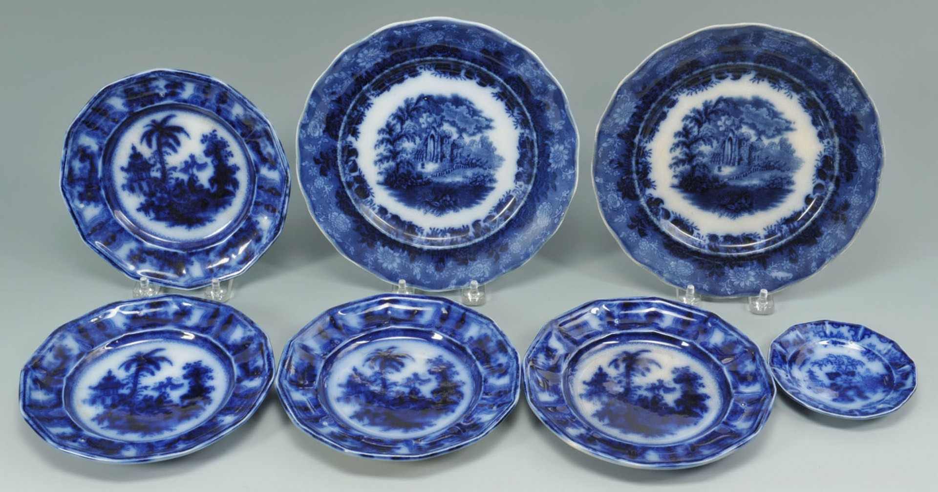 Lot 2872338: 12 pcs of English Ceramics, incl. Flow Blue