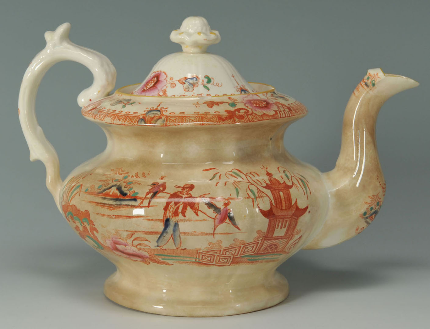 Lot 2872339: 2 English Ceramic Items w/ Asian Themes