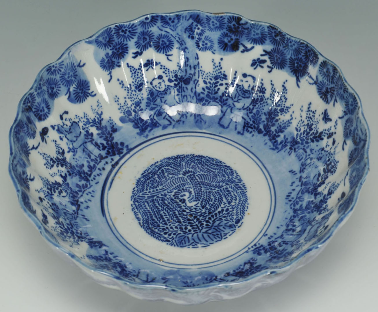 Lot 2872340: 6 pieces blue and white Asian porcelain, inc. Cant