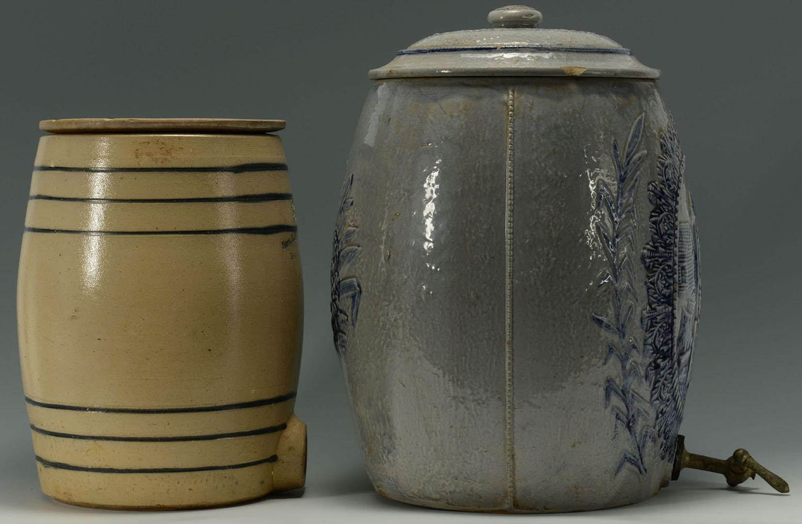 Lot 2872348: 2 Cobalt Blue Stoneware Coolers