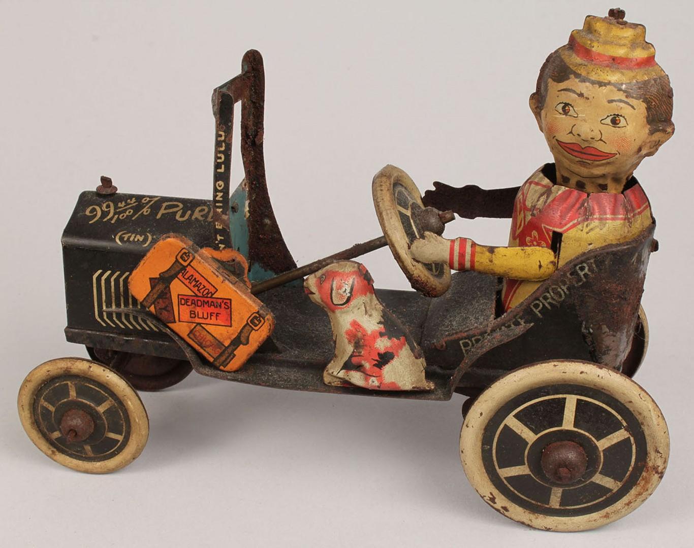 Lot 2872359: 2 Marx Tin Wind-Up Toys, Car & Plane