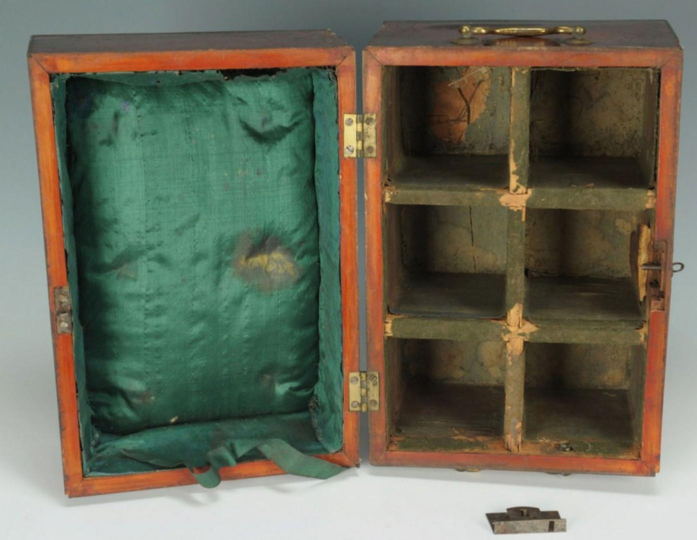 Lot 2872362: 2 English Boxes, Bottle & Document