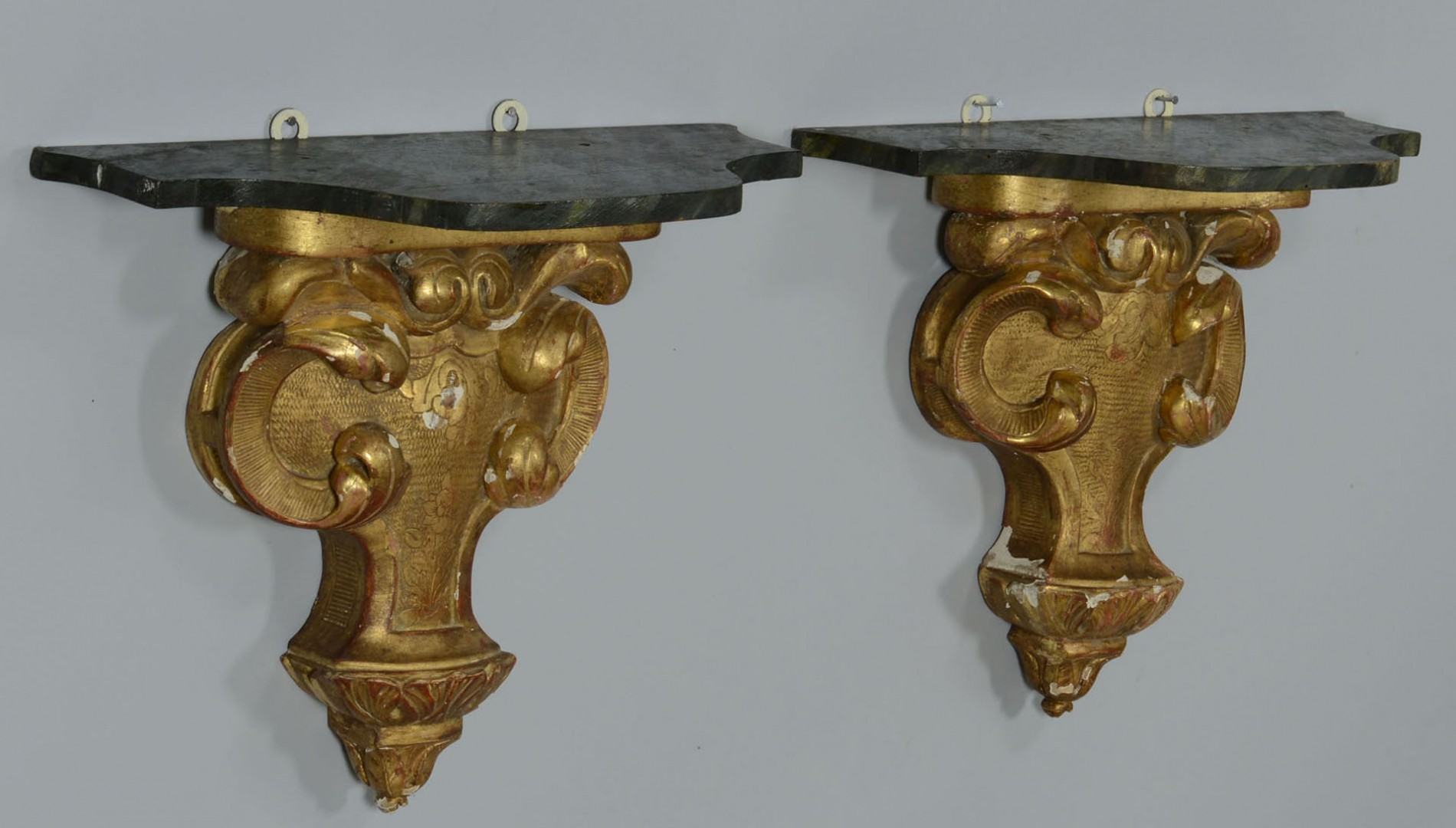 Lot 2872363: Pair Large Composition Gilt Baroque style Brackets
