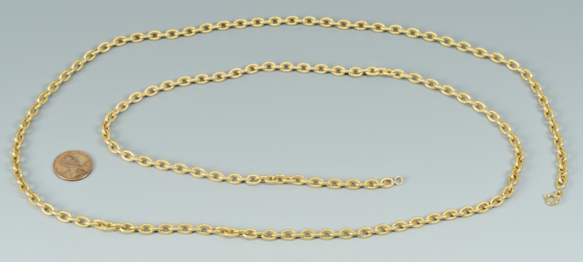 Lot 3088051: 18k Yellow Gold Necklace, 36.2 grams