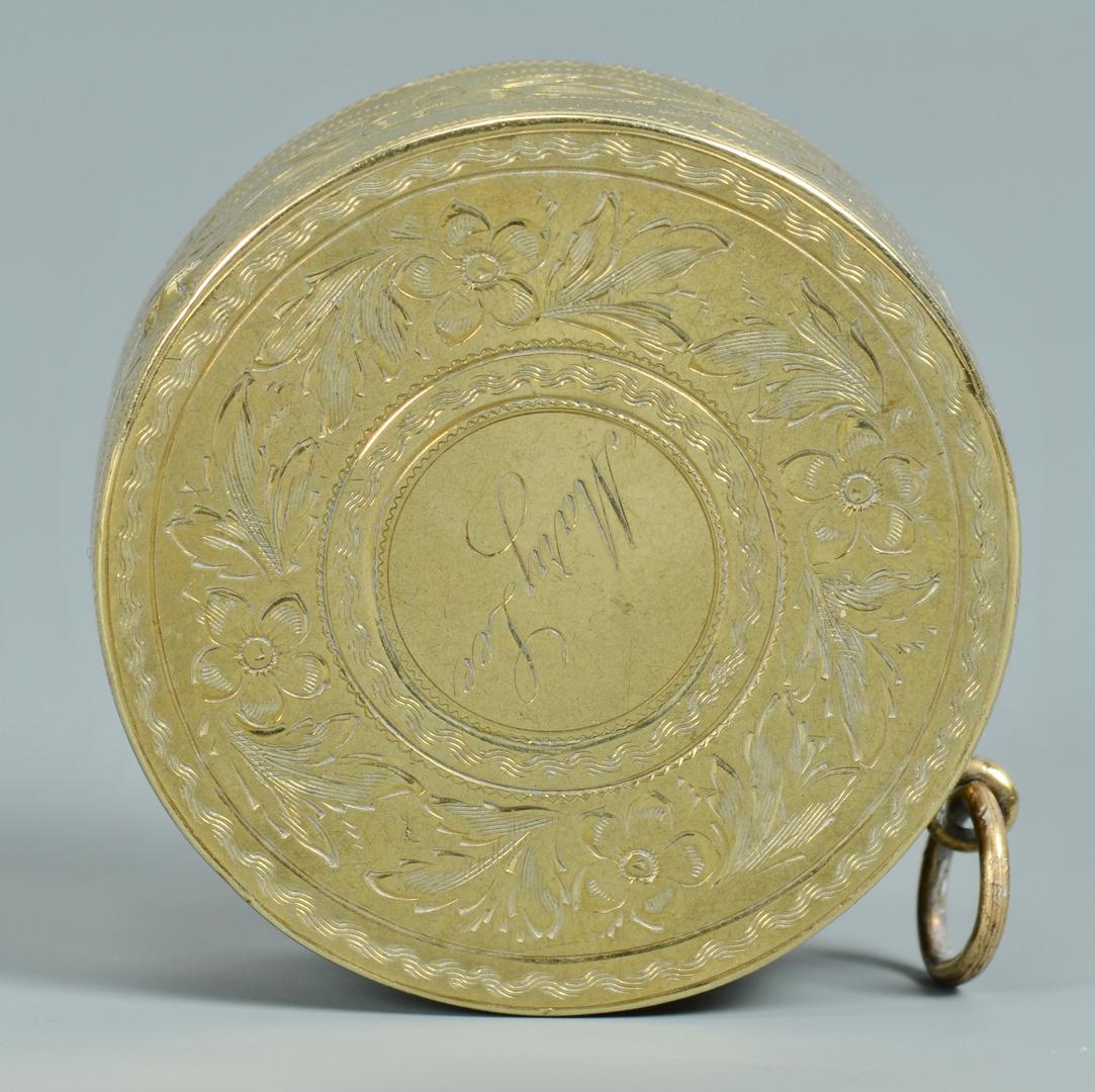 Lot 3088056: 3 Victorian Ladies Gold Accessories