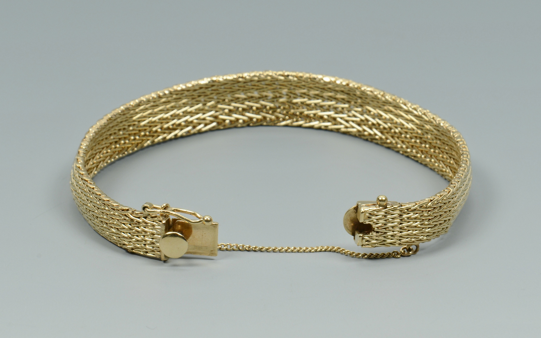 Lot 3088058: 14k Mesh Link Bracelet