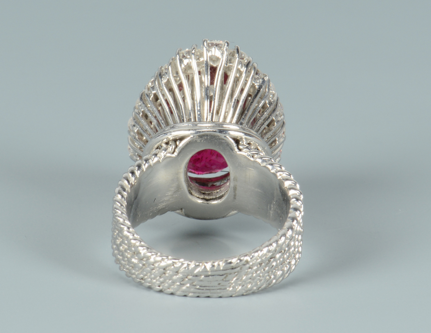 Lot 3088059: 14k Rubellite and Diamond Ring