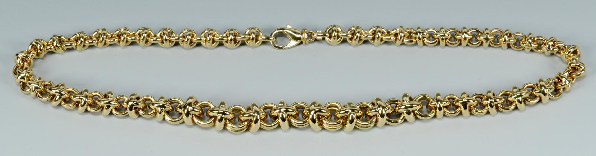 Lot 3088067: 14k Graduated Link Necklace