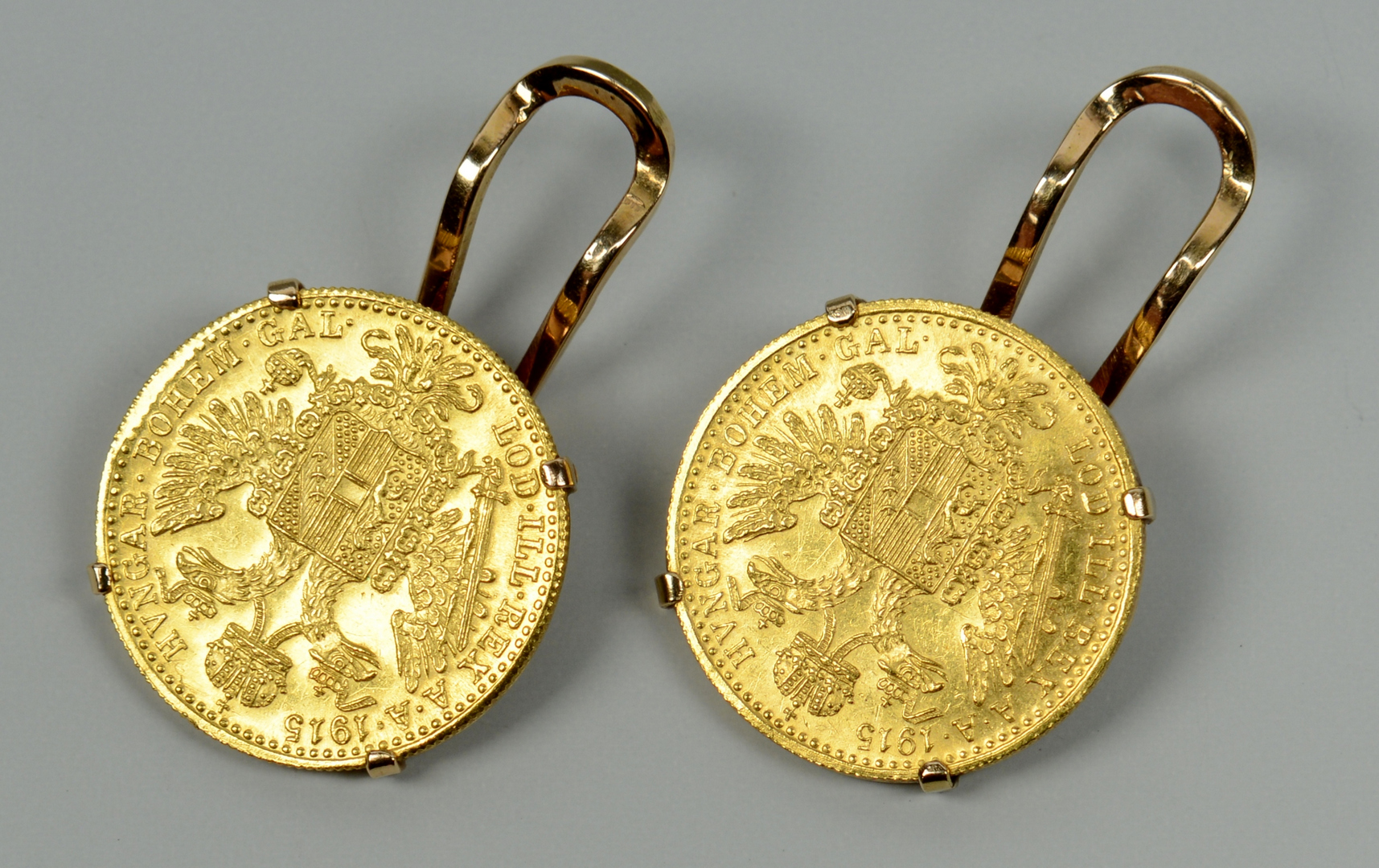 Lot 3088071: 3 1915 Austrian Ducat Coin Jewelry Items