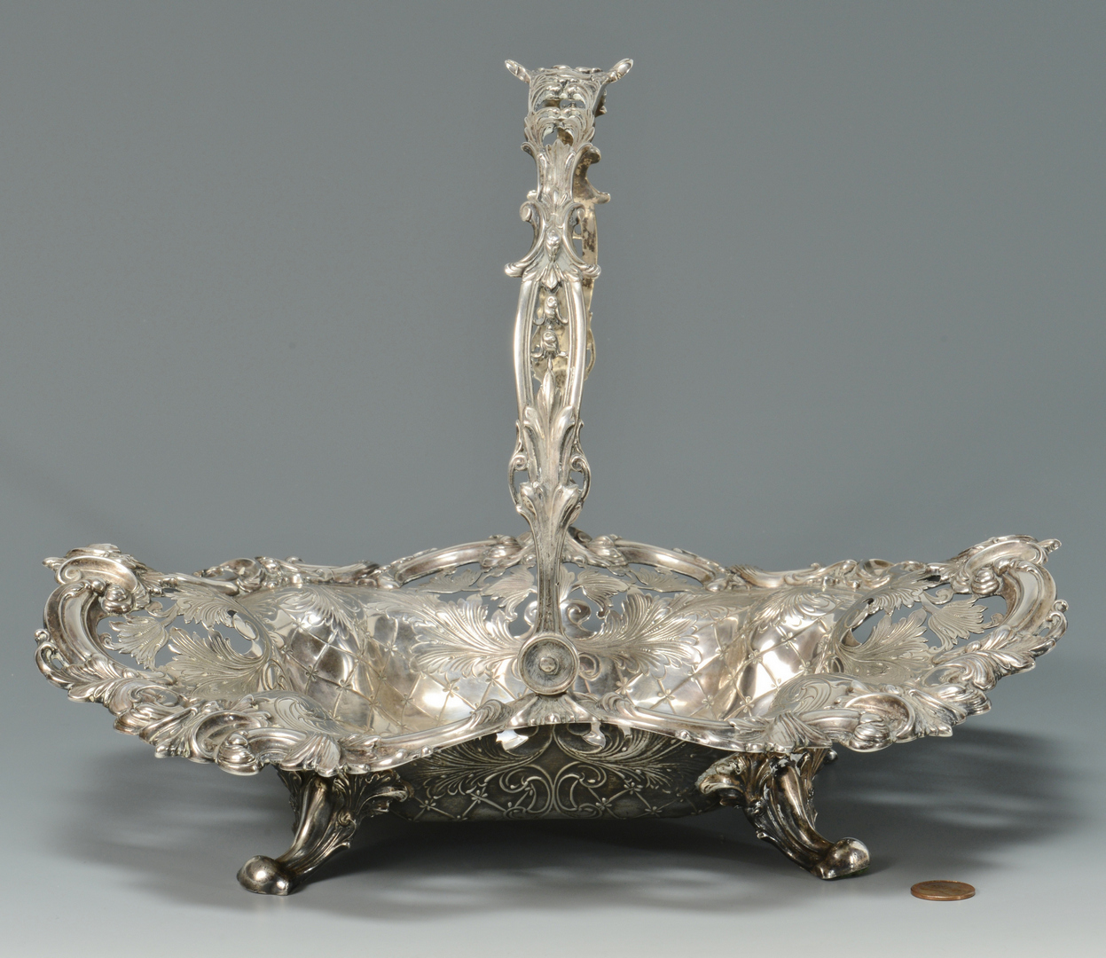 Lot 3088074: Sterling Cake Basket, Galt & Bro.