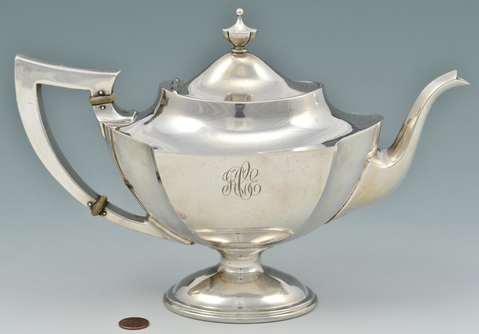 Lot 3088075: 5-pc International Sterling Tea Service