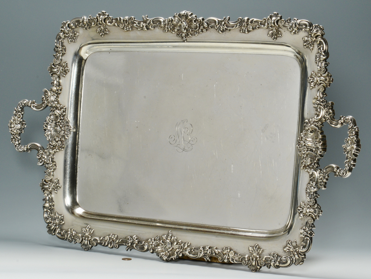 Lot 3088076: Sterling Platter, Black Starr & Frost