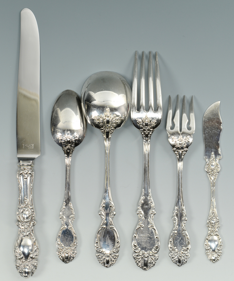 Lot 3088078: Wallace Sterling Flatware, Lucerne, 72 pcs.