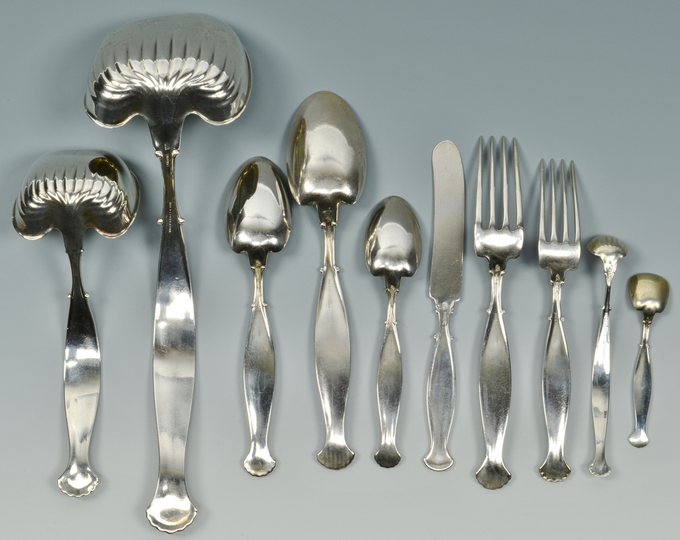 Lot 3088079: Whiting Flatware, Hyperion w/ lg Ladle and Case