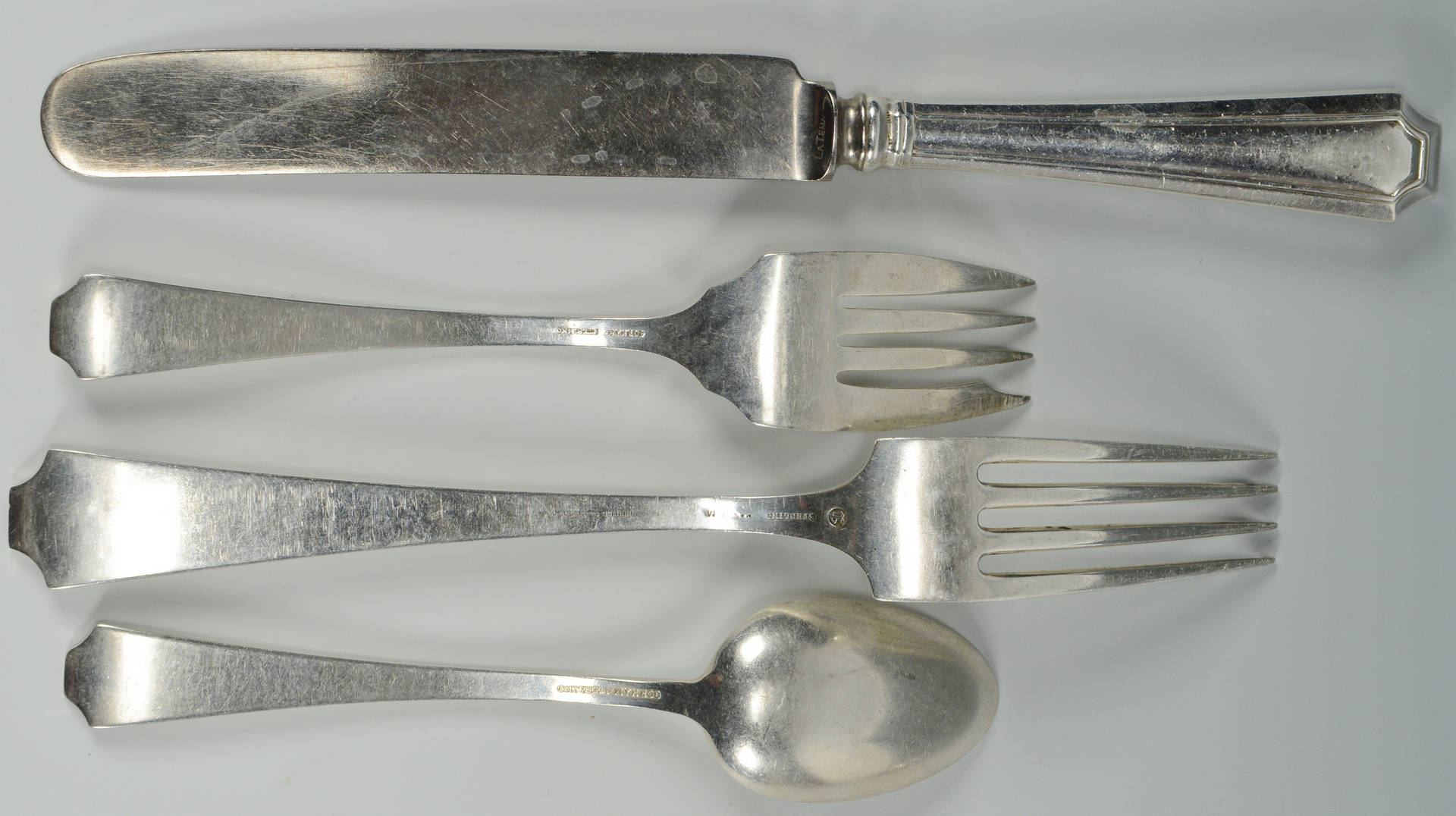 Lot 3088080: 62 Pcs Sterling Flatware, Fairfax Pattern