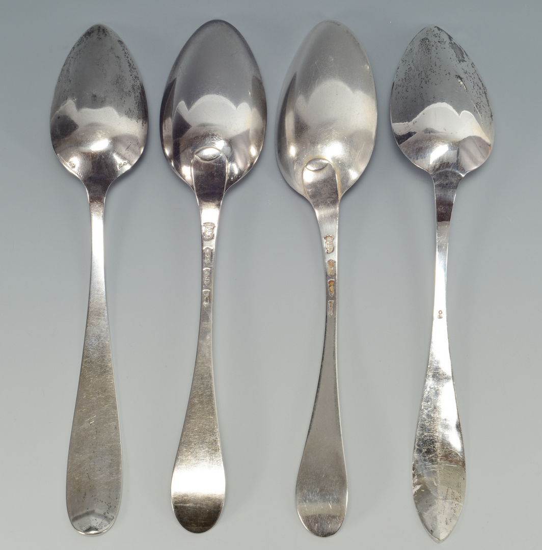 Lot 3088082: 40 pcs Continental Silver Flatware, circa 1800