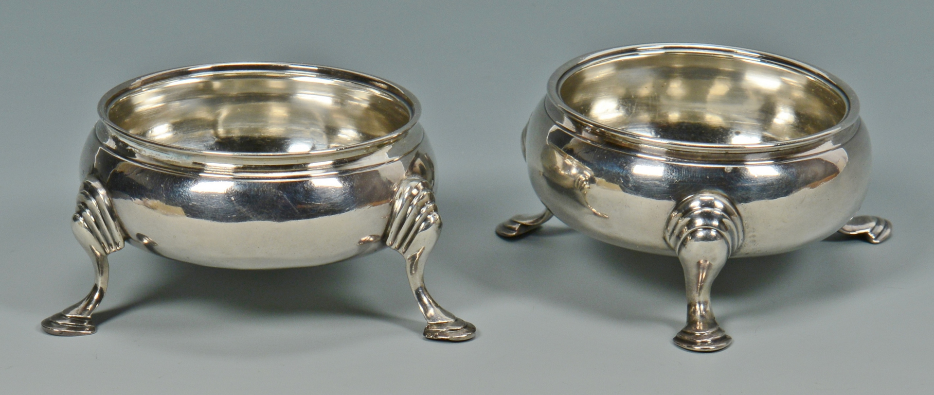 Lot 3088083: George II and George III Sterling Spoons and Salts