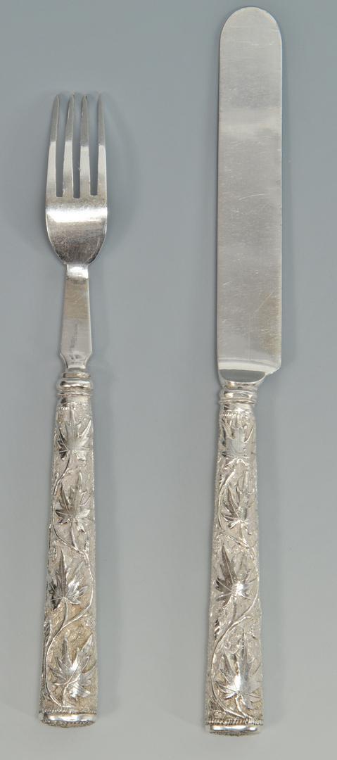 Lot 3088095: 24 pcs Asian Export Silver Flatware