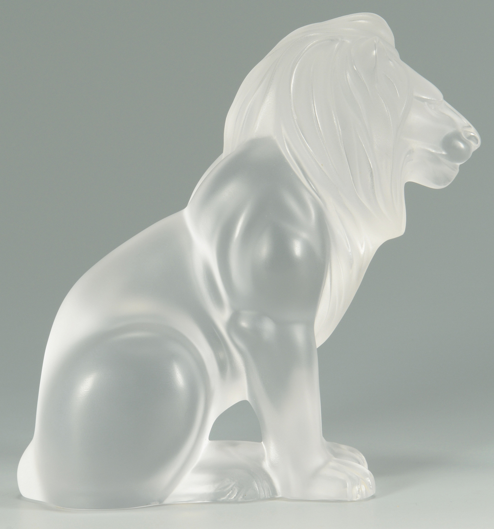 "Lot 3088099: Lalique Crystal ""Bamara"" Lion"